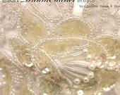 Cara Mia Vintage Beaded Bridal Headpiece, Headband Glam, Boho Modern Tiara Vintage ivory and White tones - CC022