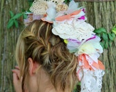 Flower Mohawk from Vintage Doilies and Lace - Custom