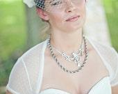 Dotty Bridal Shrug - White or Ivory