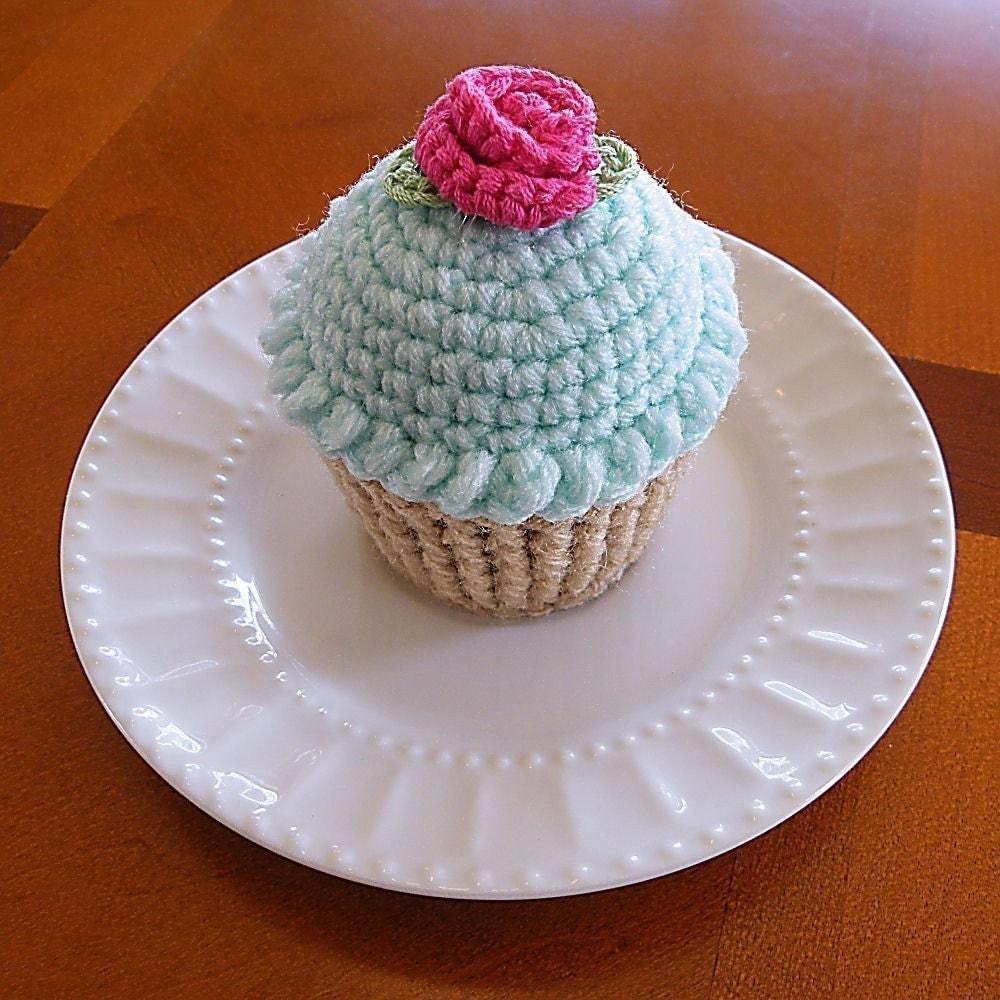 Cupcake Pincushion Cupcake Pin Cushion Crocheted Cupcake