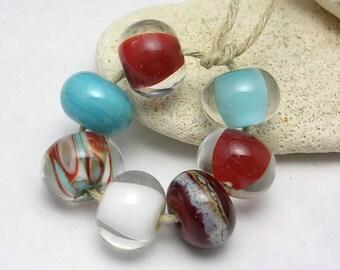 Organic Handmade Glass Lampwork Beads - Chocolate Frost