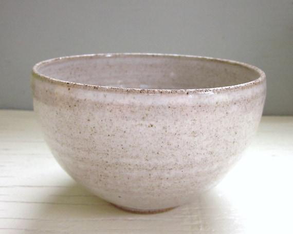 white cereal bowl soup bowl ice cream bowl stoneware ceramic pottery