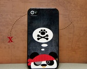 Phone Case - Arrr... Pirate Panda - Hard Case for iPhone 4, 4s, 5, 5s, 5c, 6, 6 Plus - iPod Touch 4, 5 - Galaxy S3, S4, S5