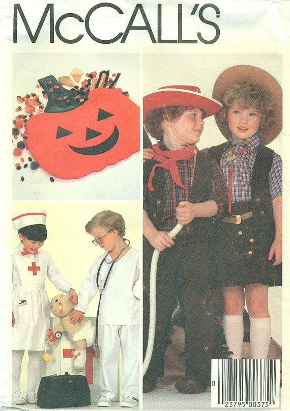 McCall's 9279 - Cowboy, Cowgirl, Doctor, or Nurse  DRESS-UP or COSTUME