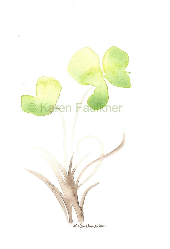 Watercolor Painting, Original Watercolor Flower Painting: In the Meadow