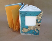 Compact Hybrid Travel Journal with Custom Map - Writing Journal with Pockets and Envelopes - MADE TO ORDER