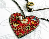 vintage tin - two sided heart - gypsy