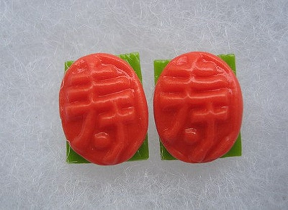 Ang Ku Kueh (Smooth Surface) Earrings