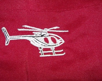 """APRON Helicopter Chopper Embroidery 32"""" BBQ Barbecue - Ready to Ship"""