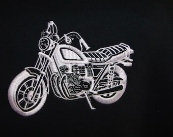 T-shirt Motorcycle Embroidered - Small Cycle - Made to Order