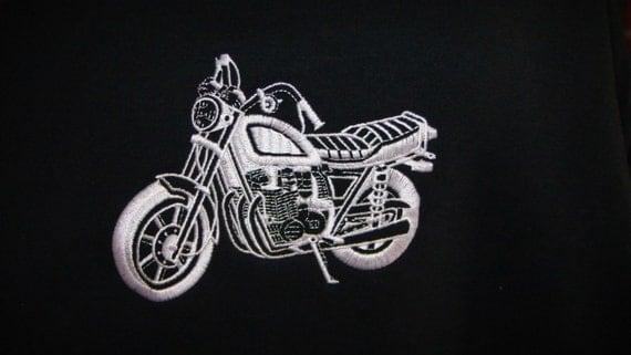 Hooded Sweatshirt Motorcycle Embroidered Hoodie Smaller Bike - Made to Order