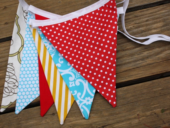 Bunting, Carnival Themed Gender Neutral Flag Banner, Ready To Ship Photography Prop.  Also For Weddings and Parties.
