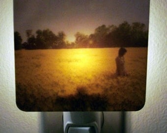 Clearance DISCONTINUED Polaroid Photo Night Light - Fields of Gold - Unique Housewarming Gift, Whimsical Home Nursery Decor,