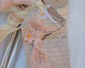 ORDER FOR MARISA 65 Vintage Boutique Wedding Tags Romantic Shabby Chic
