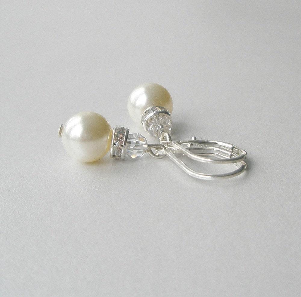 ivory pearl drop earrings pearl and by lrichardsdesign