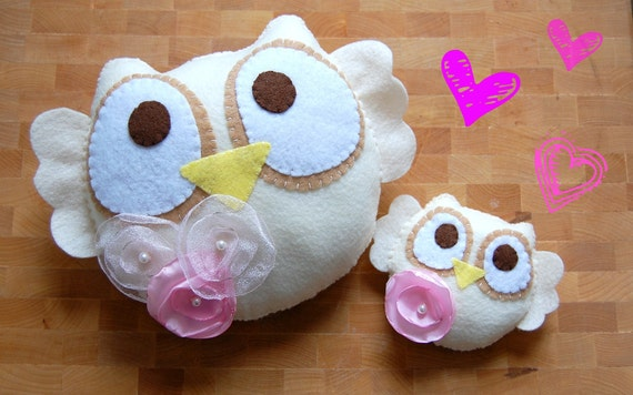 Eco Friendly Romantic Owl Plush Decoration/ Limited Edition