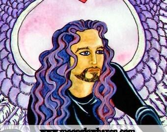Angel Wings Wall Art, Dark Angel Wings, Male Angel, Fallen Angel Wings, Fantasy Artwork, Gay Male Art, Gothic Art Print, Original Watercolor
