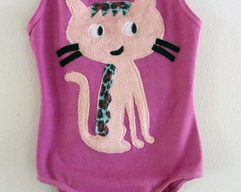 PURRFECT KITTY LEOTARD-Childrens leotard-12/18 months, 2/4 years, 4/6 years, 6/8 years up to Adult Sizes