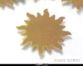 Sun Shaped Brass Metal Blank for Metal Stamping. Pack of 5. MET-450.28