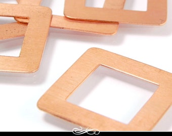 Square Copper Washer Blanks. 5 Pack. 24ga Solid Copper MET-530.25