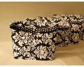 clutch Black bag burlap rustic purse Bridesmaid Clutch Grey Pink Set 4 Shower Custom gift Pouch Etsy Wedding Favor MakeUp