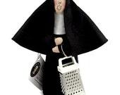 Novelty  Nun Doll Decoration funny Catholic gift congratulations keepsake Nun Grater