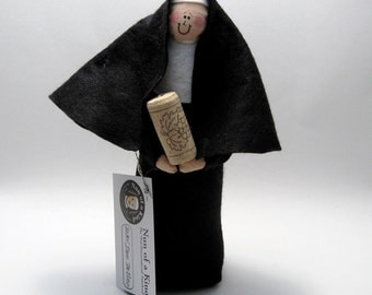 Wine loving nun doll sister doll Catholic gift