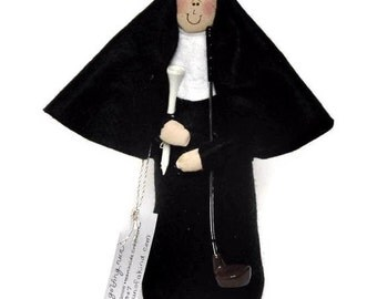 Nun doll golfing woman, sister doll, fun Catholic gift, gift for golfer , golf enthusiast, golf tee and club, Sister Holyn One