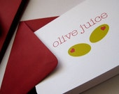 As Seen On TASTE OF HOME Magazine Olive juice- Valentine cards, set of 6