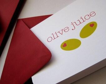 As Seen On TASTE OF HOME Magazine Olive juice- Valentine cards, set of 6