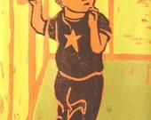Star Shirt (linocut)