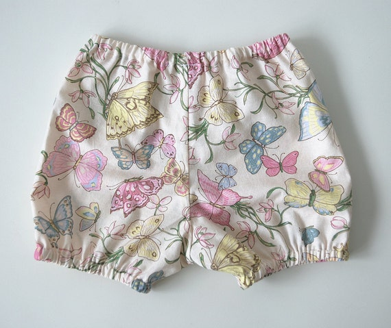 SALE: 40% discount on baby girls bloomer pant / diaper cover butterfly print size 12 months