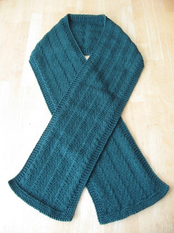 Randall Herringbone Scarf knitting pattern pdf digital