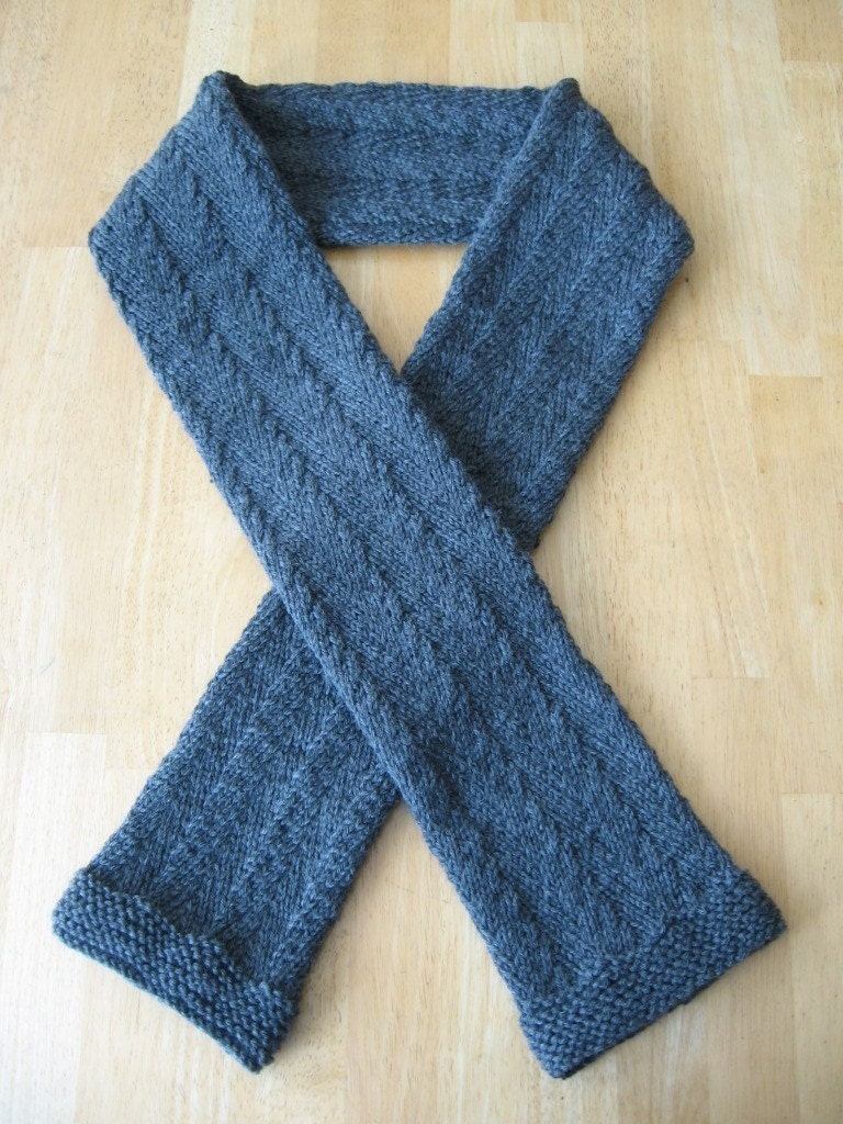 Knitting Pattern For Herringbone Scarf : Timothy Herringbone Scarf knitting pattern pdf by NewHeritageKnits
