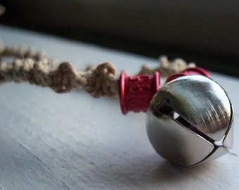 Natural Hemp with Pigeon Rings and Bell