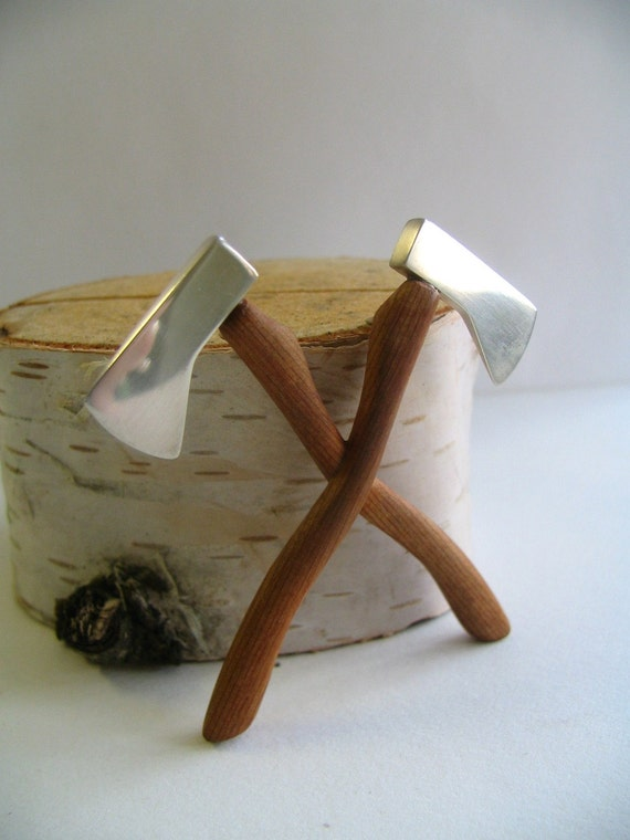 Secret Order of the Lumberjacks Axe Brooch