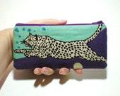 Snow Leopard Long Zipper Pouch