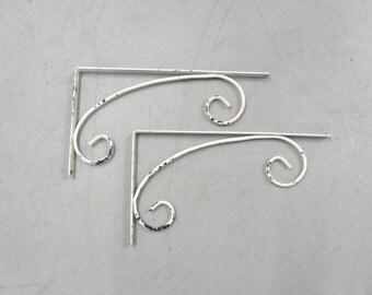 Pair of Brackets Mid Century metal shelf brackets