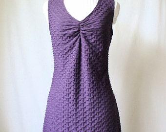 Purple Long Shirt Dress
