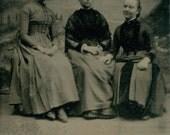 Three Women tintype