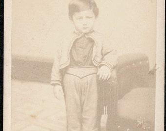 vintage photo Sweet Clayton Seltzer 5yrs Lebannon PA carte de viste CDV vintage photo