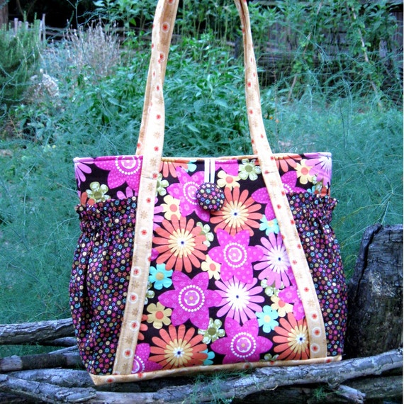 pdf sewing pattern - Aivilo Original Satchel - easy to sew purse or diaper bag - instant download
