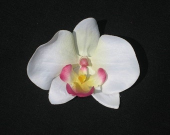 Pink Tipped Orchid Flower Hair Clip - Buy 3 Items, Get 1 Free