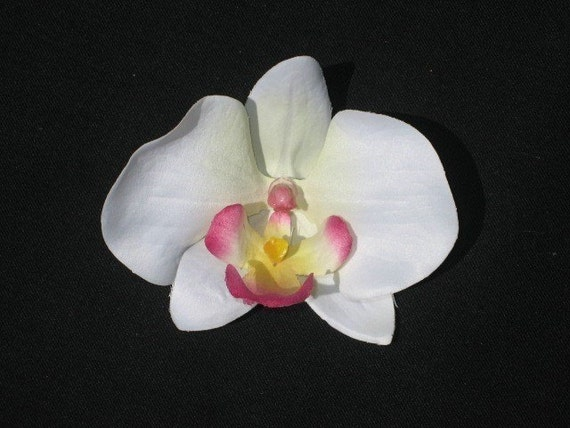 Pink Tipped Orchid Flower Hair Clip - Buy 3 Items Get 1 FREE