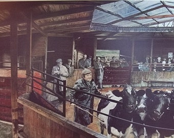 The Cattlemarket - by Andrew J Wheatcroft - Limited Edition Print Signed and Numbered