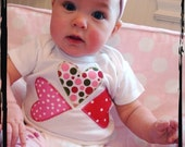 QUEEN OF HEARTS Valentines Baby Dots One-Piece or T-shirt - thenook