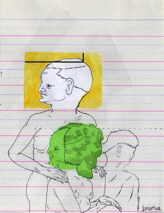 SUMMER SALE - 40% OFF - Family Portrait (original drawing, 2011)