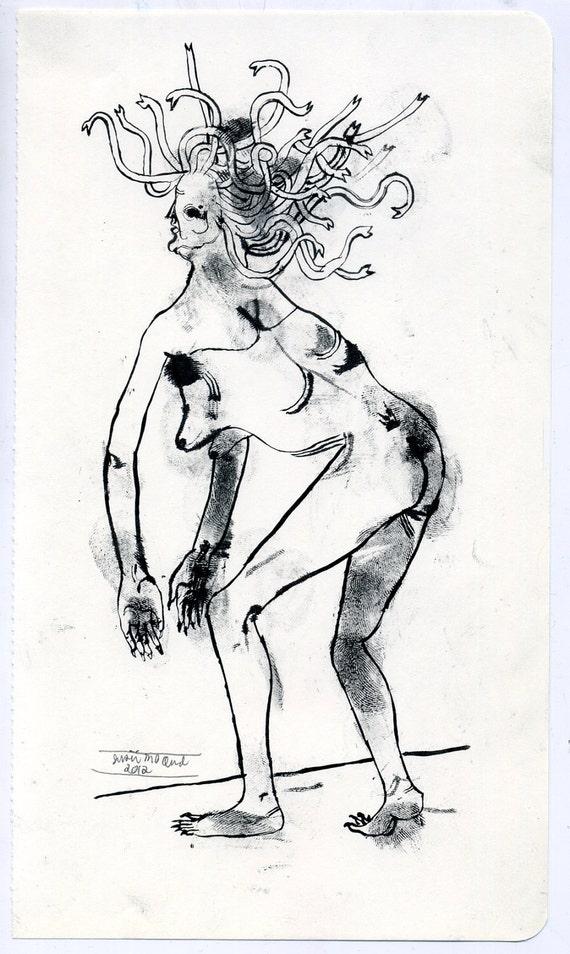 HOLIDAY SALE - Medusa (original drawing, 2012)