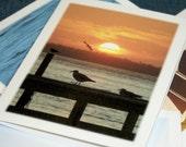 Seascape Photography Note Cards - Set of 4 - North Carolina Art, Beach Stationery