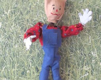 Miniature scale OOAK scarecrow doll